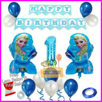 Paket Dekorasi Balon Ulang Tahun / Happy Birthday Tema Frozen