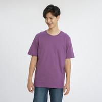 ALOWALO - Short Sleeve T-shirt Crew Neck Unisex - Chinese Violet