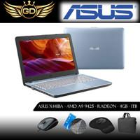 ASUS X441BA - AMD A9-9425 - RADEON R5 - 4GB - 1TB - SILVER -WINDOWS10 - Biru Muda