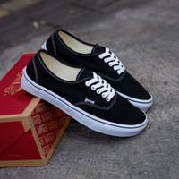 Sepatu Sneakers Vans Authentic Black White Premium Quality