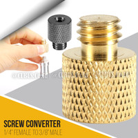 "Converter Screw Metal 1/4"" Female To 3/8"" Male For Ball haed, Tripod"