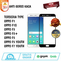OPPO F1 F1S F3 F5 F7 YOUTH PLUS TEMPERED GLASS ANTI GORES FULL COVER