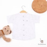 Nate Shirt - Kemeja Polos Anak Laki-laki Putih ala Korea Bahan PREMIUM