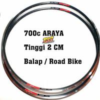 Velg 700 c ARAYA 32 Hole Rims Alloy Bahan Wheelset Road bike Fixie