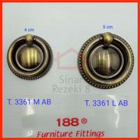 Handle Antik Tarikan Laci Pintu Lemari Ring Anting Klasik Bulat 3361