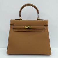 Tas HK 25 cm Gold Epsom Original Leather Mirror Quality