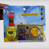 Kamera Camera Mainan Anak dan Jam Tangan Karakter Kartun Animasi
