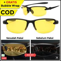 Kacamata UV Anti Silau Pria Wanita Motor Night Vision Sepeda Olahraga