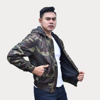 Emoline Bomber Jacket Army - Jaket Bomber Loreng Army - Varian