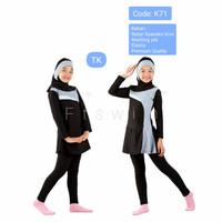 Baju renan anak perempuan muslimah TK/pakaian renang anak muslim hijab