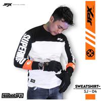 T-Shirt JPX Supermoto SJ 04 - T Shirt Panjang White Black/ Orange