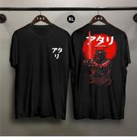 TP Kaos Distro Pria Samurai Atari XL DB Atasan Pria T-shirt Pria