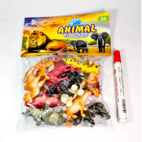 Mainan Binatang Karet Animal World isi 12