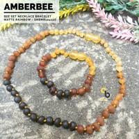 Set Kalung Gelang Amber Lithuania Bayi & Anak Tumbuh Gigi Premium Matt