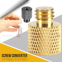 """Converter Screw Metal 1/4"""" Female To 3/8"""" Male For Ball haed, Tripod"""