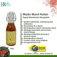 Madu Hutan Indonesia /madu hutan murni/lebah hutan isi 330gr