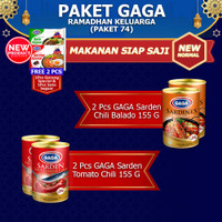 GAGA Sarden Tomat 2pc, Sarden Balado 2pc, FREE GAGA Mie 2pc (GG74)