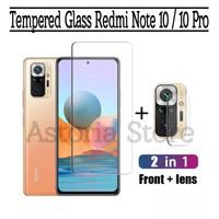 Tempered Glass Redmi Note 10 PRO Clear Anti Gores Layar dan Kamera