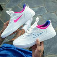 Sepatu Nike SB Nyjah Free 2 White Pink Racer Blue