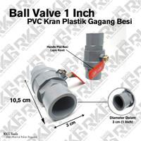Ball Valve 1 Inch Gagang Besi l Stop Kran Keran Pvc Handle Besi