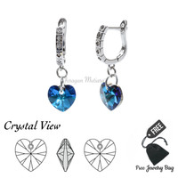 Anting Permata Kristal Premium Swarovski Crystal AAKWP - Biru