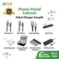 ECLE Paket Parsel Lebaran Charger Starter Pack Komplit Fast Charge