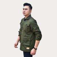 Emoline Jacket Semi Parka Green Army - Jaket Semi Parka Pria - Hijau