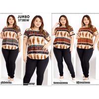 Blouse Batik Super Jumbo Bigsize Baju Atasan Wanita Big Size 373 vol 2