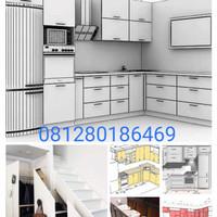 Kitchen Set dan backdrop TV