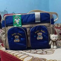 tas bayi besar /tas perlengkapan bayi - navy cream