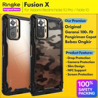 Original Ringke Fusion X Case Xiaomi Redmi Note 10 Pro 10 Casing Soft - Redmi Note10Pro, Black