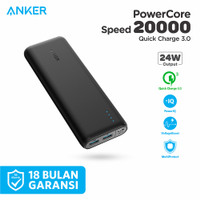 ORIGINAL Powerbank Anker Powercore Speed 20000 mAh QC 3.0 - A1278
