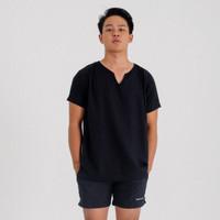Baju Pria Kasual Premium/Pantai Limited Edition Beachwell Bali Hitam