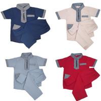 Baju Koko Anak Satu Set Peci Celana Baju Usia 1-10 Tahun