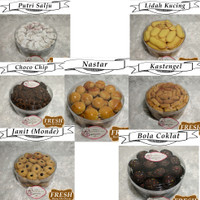 Kue Kering Lebaran Nastar, Kastengel, Lidah Kucing, Choco Chip Premium