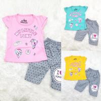 Baju Setelan Harian Anak Bayi Perempuan Motif Disney