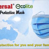 Masker Ecolite 3Ply Isi 50pcs Masker Medis Medical Protective Earloop