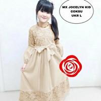 MTF Baju Muslim Anak Perempuan Usia 9 - 11 Tahun Maxi Dress COmbi Joce
