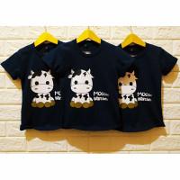 Kaos / Baju anak motif Sapi Mooo