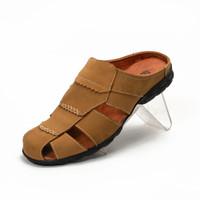 Sepatu Sandal Pria Kulit Asli/Sendal Slop Bustong Original Fordza BT50