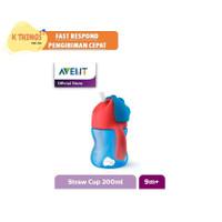 MURAH Avent Straw Cup Bottle Botol Minum Sedotan 200ml 7Oz Biru/Blue