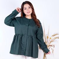 Blouse Wanita Jumbo LD 120 Fit 3XL Baju wanita big size atasan Milea - Hijau L