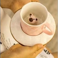 Cangkir Kopi Teh Cute Bear Inside Mug Kawai by Go Green shop 1020-357