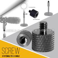 "Converter Screw Metal 3/8"" Female To 1/4"" Male For Camera,Microphone -"