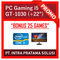 PC Gaming / Design i5-3470 + 8GB RAM + SSD + Nvidia GT1030 + LED 22