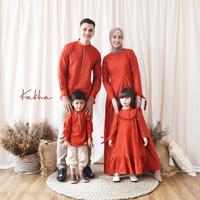 Kakha - Sarimbit Keluarga Linen Series (Red Terracotta)