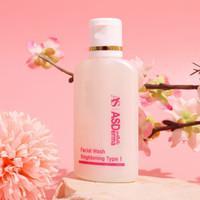 Facial Wash Brightening Type 1 Asderma Glow Cuci muka Ekonomis 60 ml
