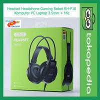 Robot RH-P10 Headset Headphone Gaming Komputer PC Laptop 3.5mm + Mic