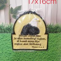 plakat resin pajangan gantung souvenir rajawali rohani asli homemade