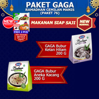 GAGA Bubur Ketan Hitam 1pc, Aneka Kacang 1pc FREE GAGA Mie 2pcs (GG76)